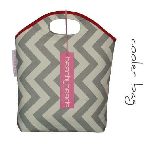 Light grey chevron cooler bag